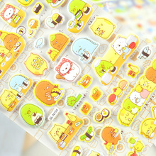 New Arrival Colorful 3D Sumikko Gurashi Cartoon Decorative Sticker Diary Album Label Sticker DIY Scrapbooking Stationery Sticker(China)