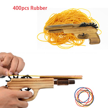 Classic Rubber Band Pitcher unlimited bullet Wooden Toy Guns Hand Gun Shooting Gifts Funny Boys Outdoor Sports For Children(China)