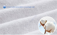 Premium Terry Protector skirt style cotton Terry Cloth Mattress Cover 100% Waterproof of TPU best quality terry cloth W007