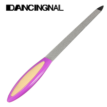 Random 1pcs Double Sided Metal Nail File For Manicure Pedicure Podiatry Color Random Women Beauty Nail Tools