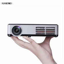 XUANERMEI mini HD 3D Projector WiFi Android 4.4 DLP 1080P Digital home theather tv Active Shutter proyector for PC laptop TV