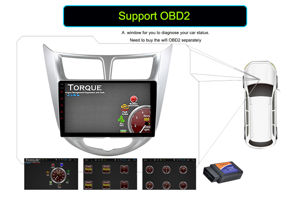 Quad Core Android 6.0 Car DVD GPS Player For Solaris Verna Accent Car PC Headunit Car Radio Video Player Navigation obd