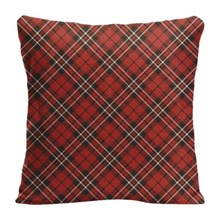 Cotton Linen Beautiful Red plaid Throw Pillow Case Decorative Cushion Cover Pillowcase Customize Gift High-Quality For Sofa