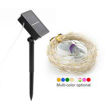 Solar LED String Light Waterproof 10m 100 LED Copper Wire Lamp For Outdoor Garden Christmas Decoration Party Lights