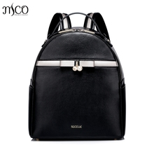 Women PU Leather Backpack Fashion Bow Female All match Daily Shoulder Bags Ladies Daypack Girl Schoolbag Brief Travel Rucksack