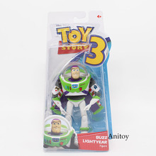 Anime Toy Story 3 Buzz Lightyear PVC Action Figure Collectible Model Toy Kids Gifts 14cm KT446