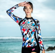 Sbart Professional Women's Sexy Rash Guard UV Protection Patchwork Swimsuit Surfing Shirt Rashguard Jellyfish Diving Cloth Tops