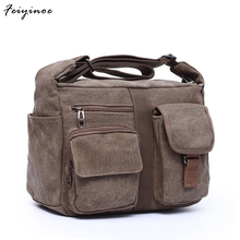 2017 new canvas bag handbag men oblique satchel bags men messenger bag shoulder bag(China)