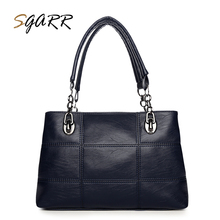SGARR Famous Brand Leather Handbag Large Wine Red Women Big Capacity Purse Zipper Female Soft Shoulder Bags For School Girls(China)