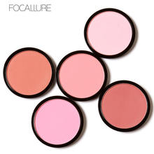 FOCALLURE 6 Colors Blush Makeup Cosmetic Natural Pressed Blusher Powder Palette Charming Cheek Color Make Up Face Blush(China)