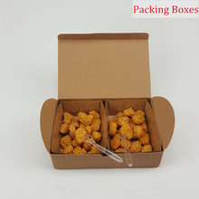 Chicken wings chicken rice flower Fried food packaging boxes, corrugated boxes kraft paper boat take-away packaging PACKER box(China)