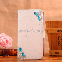 3D Bling Rhinestone Hello Kitty Dragonfly PU Leather Flip Wallet Phone Cases Cover for Samsung Galaxy S3 i9300