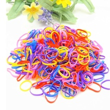 300pcs Rubber Hairband Rope Ponytail Holder Elastic Hair Band Ties Braids Plaits Summer Style(China)