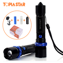 Buy TOPIA STAR Powerful Zoom USB Flashlight Tactical Torch 3 Light Modes Adjustable Focus LED Flashlights Charger for $14.52 in AliExpress store