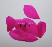 100Pcs/lot!3-5cm Selected Rose Trimmed Goose Feathers,Exotic Millinery Feathers for Craft DIY