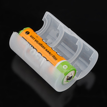 New Wholesale Best Promotion Translucent AA to C Size Battery Adapter Holder Converter Shell Cover Case