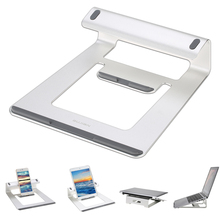 Aluminum Laptop Stand Desk Dock Holder Bracket Cooler Cooling Pad for MacBook Pro/Air/iPad/iPhone/Notebook/Tablet/PC/Smartphone