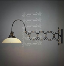 French designer Industrial style retro style telescopic scissors frosted well lamp