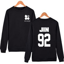 Kpop BTS WINGS Hoodies Women Plus Size Black  Capless Bangtan Boys Winter Casual Sweatshirts Women Long Clothing XXS-4XL