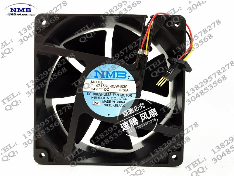 4715KL-05W-B39 24V 0.36A 12038 fans with original plug<br>