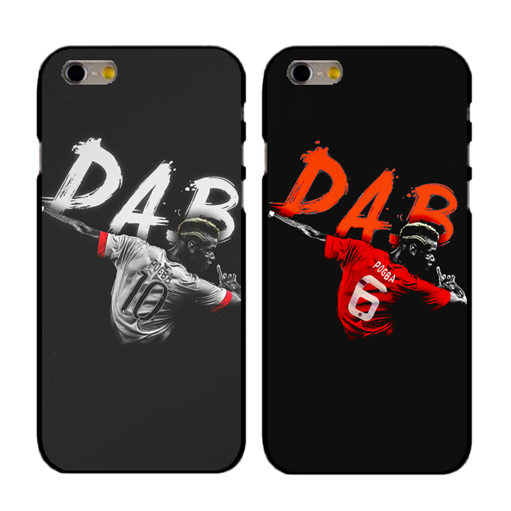 Coque Paul Pogba Dab Hip Hop Clear Hard Plastic Phone Cover for iPhone 7 7Plus Case for iPhone 5S 5 SE 6 6S 6Plus 4S 4 Case(China)