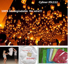 Cylinder shape 10pcs/lot columned paper flying sky lantern with wax fuel biodegradable wedding/party decorations free shipping
