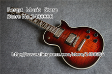 Chinese Mahogany LP Guitar Body & Tiger Flame Finish LP Custom Electric Guitars Free Shipping
