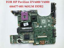 High quality laptop motherboard for HP Pavilion DV6000 Compaq V6000 965GM DDR2 446477-001 460901-001 100% Fully tested&Working