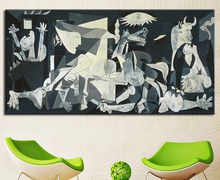 Abstract painting Guernica 1937 wall pictures for living room moden art pablo picasso home decoration no frame canvas print