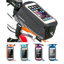 Buy NEW Roswheel Bicycle Bags Frame Front Head Top Tube Waterproof Bike Bags&Double IPouch Cycling 5.5-6.2 Cell Phone Touch for $9.81 in AliExpress store
