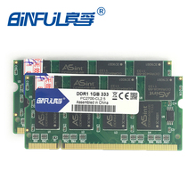 Binful Original New Brand  other brands ddr 2GB(Kit of 2,2X1GB) PC-2700 DDR 333mhz MEMORY ram 200PIN Laptop SDRAM Notebook