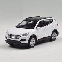 Children Kids Welly Welly Hyundai Santafe Model Car 1:36 Diecast Metal Alloy Cars Toy Pull Back Gift Original Box
