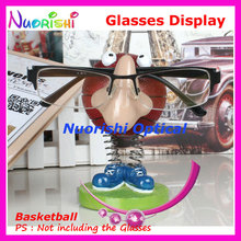 Cute Cartoon Basketball Eyeglass Sunglasses Glasses Display Stands Props Shelf Store Household Car Decoration CK01 Free Shipping