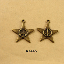 22*24MM DIY retro small five pointed star charm peace sign jewelry wholesale ZAKKA romantic Pendant handmade beads accessories