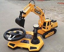 1/20 scale rc truck electric rc excavator 4WD remote control construction trucks Steering wheel control(China)