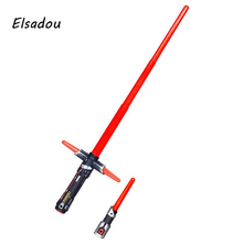 Elsadou Star Wars 7 Episode VII lightsaber 99cm Espada Plastic Weapon Laser Light saber Sword(China)
