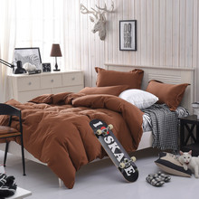 bedding set queen size coffee Sheet Bedding Set Solid Multiple Colors Single Twin Full Queen Double King drop shipping