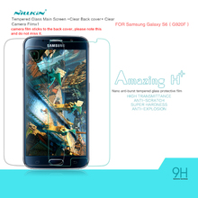 Nillkin Tempered Glass Film for Samsung Galaxy S6 G9200 Amazing H H+ Nano Anti-Explosion 9H hard Protective Screen Protector(China)