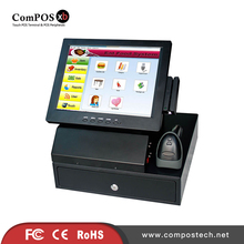 12'' cash register touch pos machine 2GB memory with cash drawer apply for drugstore