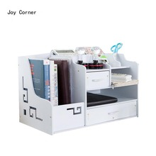 Joy Corner White Decorative Desk Sets Desktop Set File Cabinet Wood Document Cabinets products for office Drop Shipping(China)