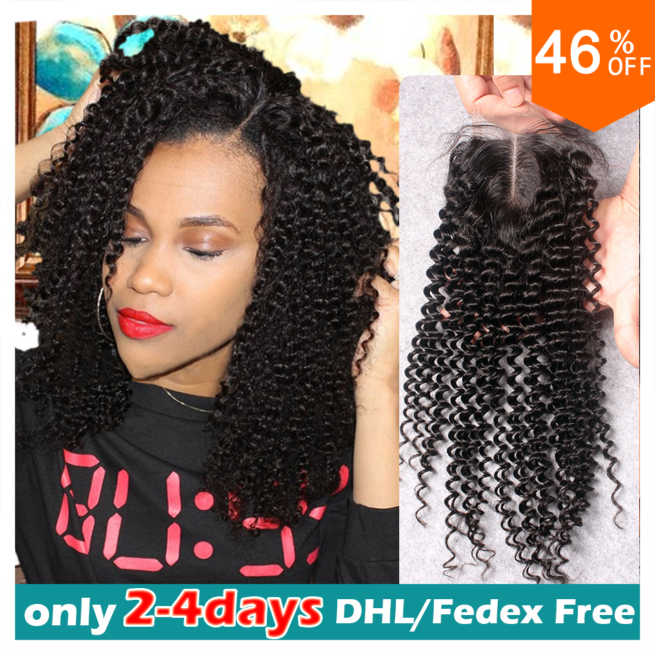 brazilian kinky curly closure free part kinky curly lace closure brazilian curly lace closure bleached knots lace front closure<br><br>Aliexpress