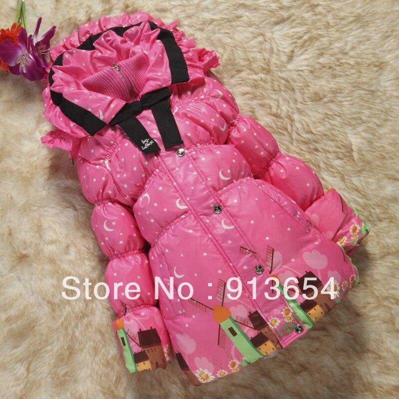 Free shipping Retail new 2017 childrens winter clothing baby down coat girls warm medium-long outerwear child down jacketÎäåæäà è àêñåññóàðû<br><br>