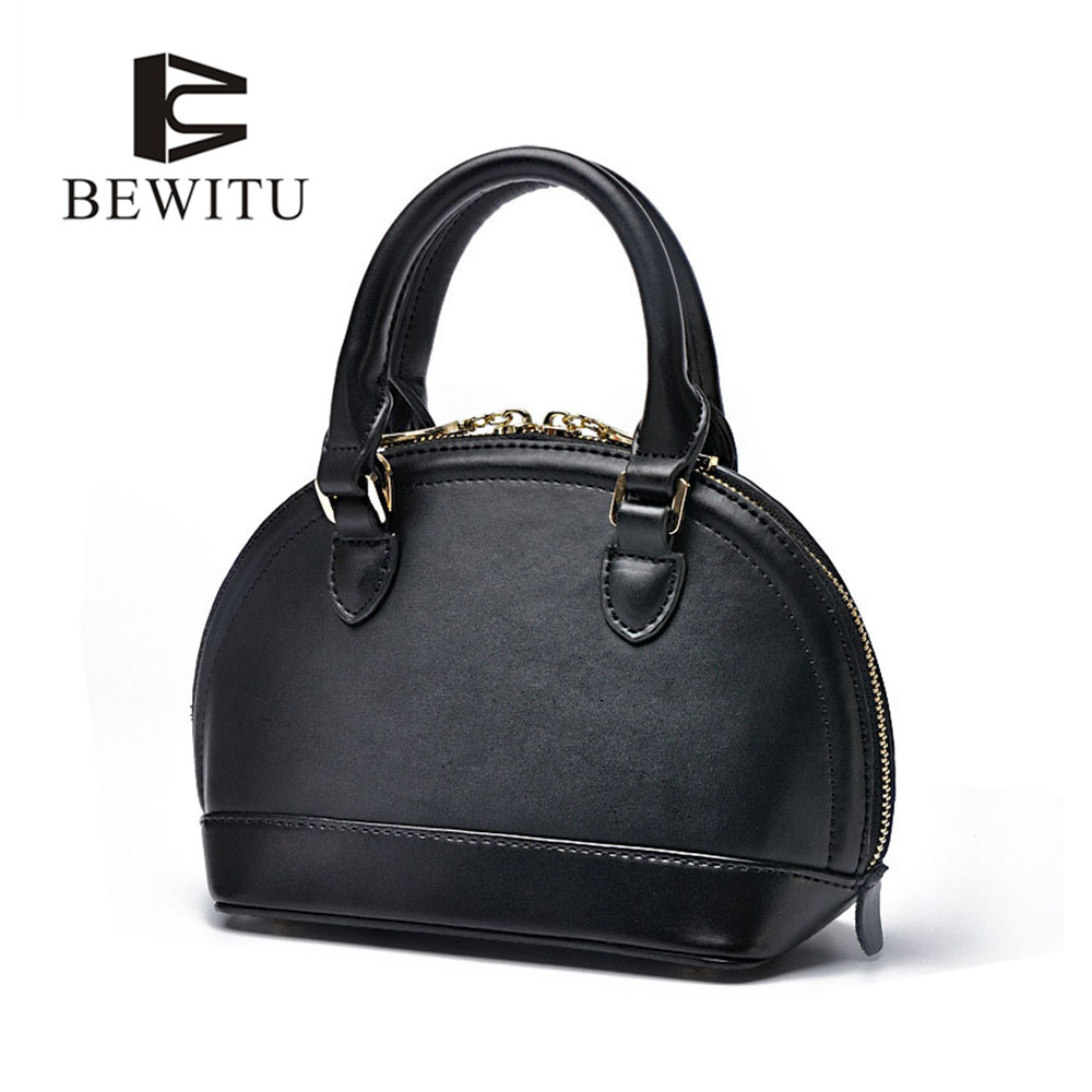 BEWITU Leather Handbag Women Black Free ShippingMessenger Bag Ladies Bags Wholesale Western Style Shell Bag Famale 2017<br>
