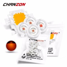 Chanzon High Power LED Chip Orange Amber 1W 3W 10W COB LED Bulb Light Lamp 595nm - 600nm / 600nm - 605nm Integrated for DIY(China)