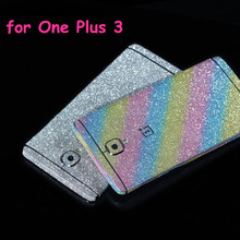 Bling Glitter Shiny Crystal Diamond Full Body Front and Back Wrap Decal Film Sticker Skin For One plus 3