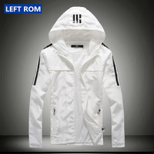 new 2017 men's fashion boutique slim movement hooded jackets coats / Thin premium Male leisure jacket coat / Men casual jackets
