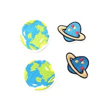 NASA Earth Patch Embroidery Iron On Patches For Clothing Iron On Stickers For Clothes Appliques For Garment DIY Sewing Badges(China)