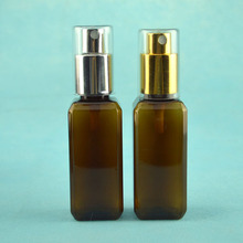 300pcs/lot 50ml amber Plastic PET spray bottle, 50CC Empty bottle, mist sprayer bottle, perfume spray brown container