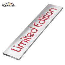 10.4cm x 2.2cm Chrome Limited Edition Logo Red Letter Emblem Decal Sticker