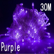purple color 30m 240 led String Lights for Xmas Holiday Wedding Party Decoration Halloween  Restaurant or Bar and Home Garden
